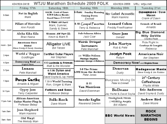 Folk Program Guide