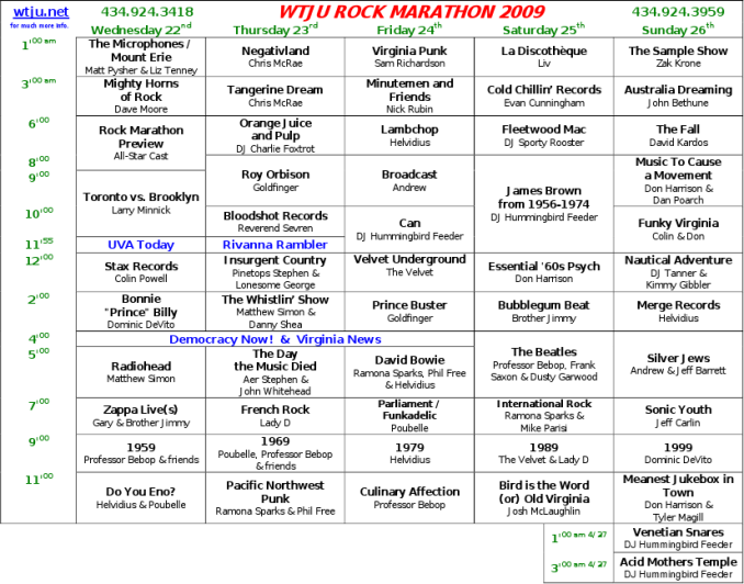 Rock Program Guide