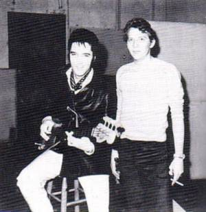 """Dan and Elvis at American Studios in 1968."""