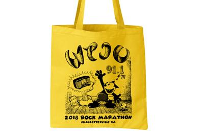 WTJU 2018 Rock tote bag