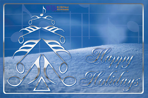 Happy Holidays WTJU Web