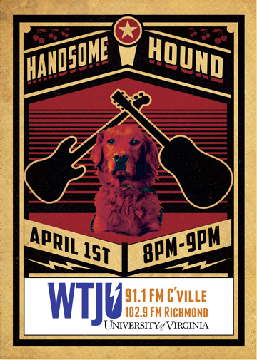 Handsome Hound on WTJU (web)