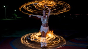 fire dancer at ix